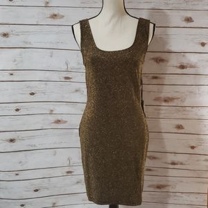 IRIS Black and gold Dress - Size XL NWT!